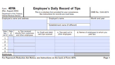 Work For Tips But Do You Have To Pay Taxes On Tips